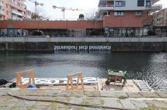 Installation réalisée avec le département d'ouvrage d'art de Strasbourg